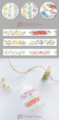 These floral bunches masking tapes will add colorful patterns on your bujo spreads, notes, and DIY projects. Washi Tape Crafts, Washi Tapes, Masking Tape, School Accessories, Bunch Of Flowers, Sticky Notes, Spreads, Color Patterns, Bujo