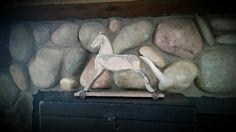 Wood rocking horse!