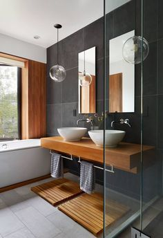 floating timber vanity | Townhouse by Etelamaki Architecture