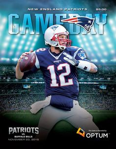 Brady graced the cover of Game Day for the Week 11 Bills match-up