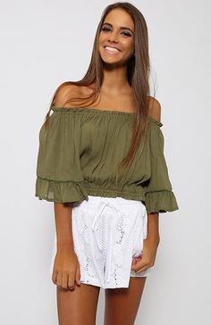 Salty Seas Crop - Khaki