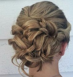 Romantic updo - undone updo - bridal hair - prom hair - blonde updo - the knot - hair