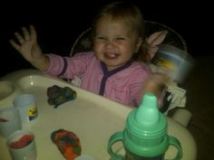 Playing with play doh at Grandma's!