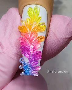 3d Nail Art, Nail Art Hacks, Rose Nail Art, 3d Nail Designs, Nail Art Designs Videos, Nail Design Video, Nail Art Videos, Disney Acrylic Nails, Bling Acrylic Nails