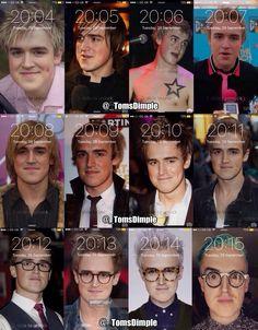 The evolution of Tom Fletcher @tommcfly
