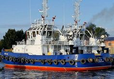 """Pella Shipyard completed trials of tugboat """"MB-93"""",building No 504,2nd from series of 6 tugboats of project PE-65,built for Russian Navy.Length max 34,4 m Width max 12,1 m Draft 4,4 m Speed 13,5 knots Bollard pull 63 t Classification FF3WS EscortTug by Russian Maritime Register of shipping. Propulsion system Z-drive US 255 FP, Rolls-Royce, FPP into nozzles Powerplant 2*1864 kW, 1600 r/min, Cat 3516B Powerplant 2*1864 kW, 1600 r/min, Cat 3516B Full load displacement is 860 t."""