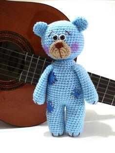 Pattern, Teddy Bear Pattern, Crochet Tutorial, Amigurumi Teddy Bear Pattern - Crochet Teddy Bear Pdf Tutorial
