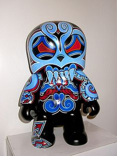 Tlaloc by Jesse Hernandez. For more info, visit 1AMGallery.com or email maya@1amsf.com.