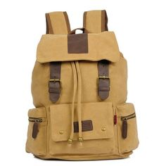 Multi Pocket Canvas Computer Bag Travel Bag Backpack |Fashion Backpacks - Fashion Bags - ByGoods.com