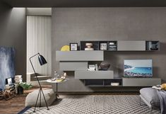 Italian furniture brand Sangiacomo embraces that walls have an alternative creative function. Their wall system is the embodiment of this as they can be completely customized and offer multiple storage options. Sangiacomo's LAMPO Wall Units come in a variety of sizes and styles. There is a storage solution and combination for every room in your house. Available at Casa Spazio, a luxury furniture store in Chicago, IL www.casaspazio.com #storagesystem #wallshelves #wallunits #wallstorage Luxury Furniture Stores, Italian Furniture Brands, Desk Wall Unit, Living Room Tv Cabinet, Modern Wall Units, Wood Table Design, Bedroom Furniture Design, Luxury Home Decor, Modern Interior Design
