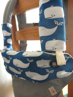 4084467cda5 Made with bamboo and organic cotton fleece Ergo 360 carrier bib cover and a  pair of drool pads set-Whales