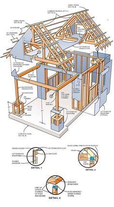 10x10 Two Storey Shed Plans 01 Framing