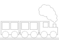Simple Train Coloring For Kids - Transportation Coloring Pages : KidsDrawing – Free Coloring Pages Online