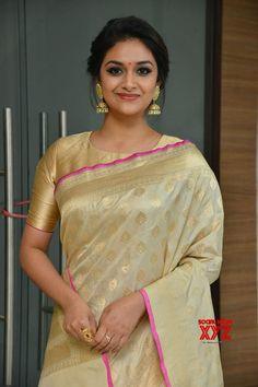 Actress Keerthy Suresh Stills From Pandem Kodi 2 Movie Trailer Launch - Social News XYZ Beautiful Girl Indian, Most Beautiful Indian Actress, Beautiful Saree, Beautiful Actresses, Indian Bridal Sarees, Indian Beauty Saree, Bridal Lehenga, Indian Gowns, Saree Hairstyles