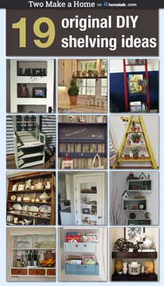 "Last week I put together a board on Hometalk of some of my favorite unique DIY shelving projects. I had so much fun looking at all of the unique shelving ideas, I probably could have spent all day on it! In case you're not familiar, Hometalk is a website that allows you to ""clip"" (kind of like ""pinning"") photos to a board which then links you to a project submitted by someone in the Hometalk community. However, this website community is focused completely on HOME related articles and…"