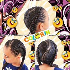 Ya pueden ver en nuestro canal de YouTube  Colorin TV está hermosa #trenzafricana invito manque nos sigan en nuestra cuenta el enlace está en la bio del instagram #colorin #peluqueria #cucuta #braids #braid #braidsforgirls #girl #girls #hair #tresses #treccia