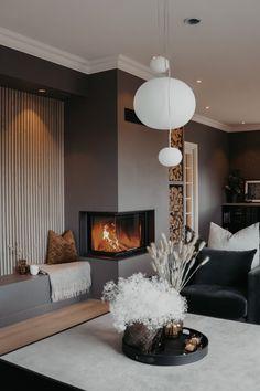 Cozy Living Rooms, Living Room Modern, Living Room Interior, Home Interior Design, Interior Styling, Living Room Designs, Modern Mountain Home, Cozy Kitchen, Home Organization