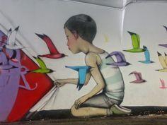 Street art - Metro Station 'Spagna' - Rome.