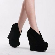 Women s New Platforms Wedges High Heels Suede Solids Shoes Retro Ankle  Boots ♥♡♥♡ 9754699d8c