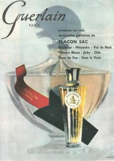 Shalimar...by Guerlain...a mythical name in perfumery presenting one the of the first ads in Spain, 1958*********