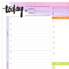 Free printable perpetual planner pages... exactly what I was looking for! Her designs are so pretty too!