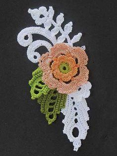Irish Crochet flower motif - something to make for a sampler book