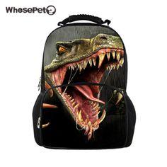 WHOSEPET Big Student Backpack Dinosaur 3D Printing Backpacks Travel Bags for Teenagers School Bags Colleage Shoulderbags     #Affiliate