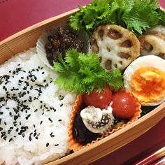 Deep-fried minced pork, sandwiched with lotus roots – Japanese lunch box