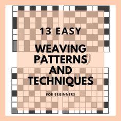13 Basic Weaving Techniques and Weaving Patterns – The Beginning Artist – Debra Adams – weberei Inkle Weaving Patterns, Weaving Loom Diy, Swedish Weaving Patterns, Pin Weaving, Flax Weaving, Inkle Loom, Paper Weaving, Weaving Art, Tapestry Weaving