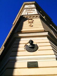 """""""In 1907-1912, Czech poet Jaroslav Seifert, winner of the Nobel Prize in Literature, attended this school."""" [Czech]"""