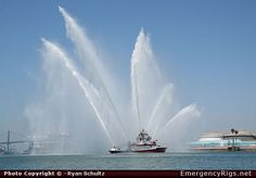Los Angeles City Fire Boat! Firefighting at it's best!! San Pedro CA