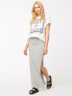 Plain Maxi Skirts - Club L Essentials