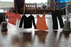 mini clothes line for play