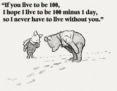 I know I've already pinned this but I love it with the old fashion pooh illustrations...