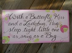 sleep tight little one bigger little hand painted by poshpaints, $53.00