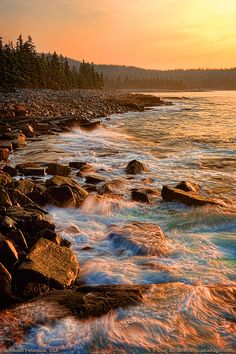 Acadia National Park at Schoodic Peninsula - yep, it REALLY does look exactly like this!  Everyone should visit at least once in their lifetime!
