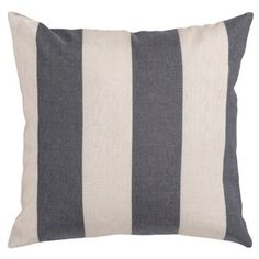 Check out this item at One Kings Lane! Striped Cotton Pillow, Gray
