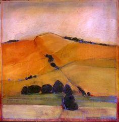 California Landscapes #1, watercolor Ann Hunter Hamilton