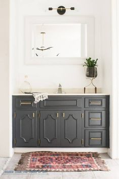 Minimal Modern Bathroom Nook Reveal For $87