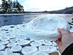 "Mysterious ""ice pancakes"" appear in Scottish river"