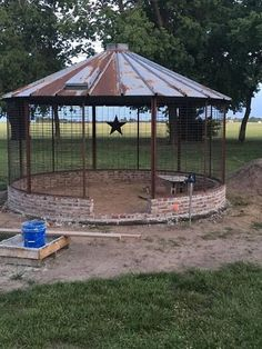 Corn Crib Gazebo, my niece and husband built. Just love it! Corn Crib Gazebo, my niece and husband b
