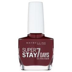 Buy Maybelline Forever Strong Gel 130 Rose Poudre Nail Polish at the best price from Savers plus much more from Maybelline Maybelline Nail Polish, Red Nail Polish, Dot Nail Art, Polka Dot Nails, Gel Nail Tips, Gel Nails, Deep Red Nails, Barry M Nails, Gel Nail Colors