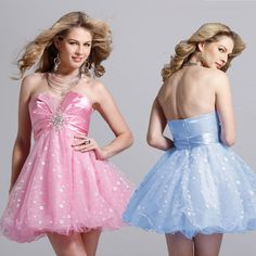 Clarisse A Short Tulle Strapless Homecoming Dress 1301 - Clothing, Shoes & Jewelry - Clothing - Juniors Clothing - Juniors Dresses