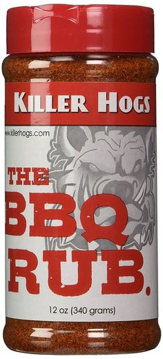 Killer Hogs The BBQ Rub Natural Flavors Pork, Beef Dry Rub Recipe Cooking 12 Oz. #KillerHogsBBQ