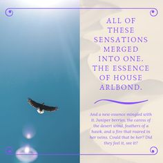 A quote from the Young Adult Fantasy novel Sand Dancer.  When someone joins a noble House, they make a blood bond which permanently binds them to that House and the members within. Those who take the bond can feel the essence of other members - their innermost soul.