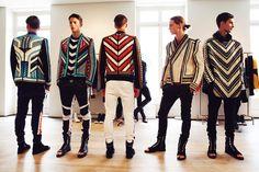 Balmain's Creative Maximalist Menswear Love Fashion, High Fashion, Fashion Outfits, Mens Fashion, Fashion Design, Moda Paris, Moda Hippie, Balmain Men, Balmain Paris