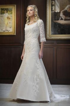 Dressy Bridal: Modest Wedding Gowns——Style to Be Elegant. Love the sleeves!