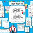 Colorful and engaging regular and irregular verb practice and assessment! Speech Language Therapy, Speech Language Pathology, Speech And Language, Speech Therapy, Language Arts, Circus Activities, Grammar Activities, Minimal Pair, Irregular Verbs