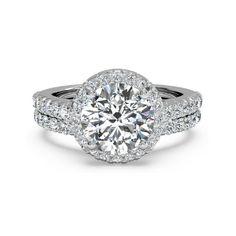IGI Certified 1.50 Ct Round Diamond Engagement Ring Set Solid 18K White Gold 7 8 #Handmade