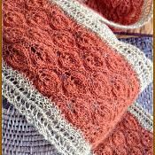 Lots of Leaves Autumn Color Lace Scarf - via @Craftsy
